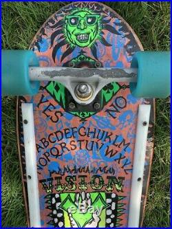 Vintage 1989 Vision Oujia Board OG Skateboard Complete