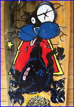 Vintage 1990 Santa Monica Airlines Natas Kaupas Sick Cat Mini Skateboard deck