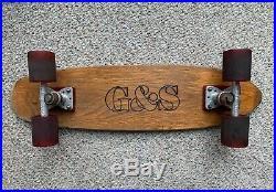 Vintage 70's G&S (Gordon Smith) warp tail Skateboard