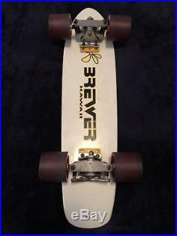 Vintage 70s Brewer Skateboard California Rainbow Fiberglass, Dogtown, Hosoi