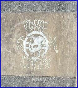 Vintage 80s RIP CITY Black Flag Skateboard