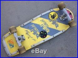 Vintage 80s SCHMITT STIX Monte Nolder Skateboard Vision Wheels original G&S Alva