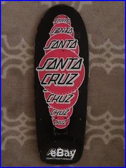 Vintage 80s Santa Cruz Dots Team Skateboard