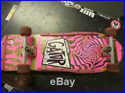 Vintage 80s Vision Gator Mark Rogowski pro model original complete skateboard
