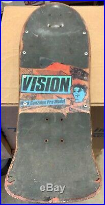 Vintage 80s Vision MARK GONZALEZ Pro Model Skateboard Deck Used