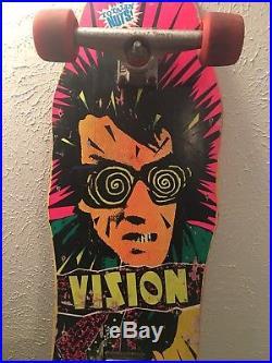 Vintage 80s Vision Psycho Stick Original Skateboard Independent