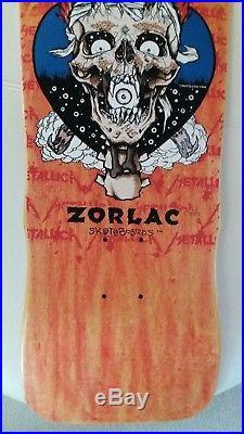 Vintage 80s Zorlac Metallica NOS Skateboard deck