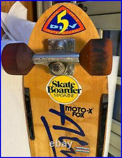 Vintage Alva 1977 Comp. Skateboard-g&s Yoyo Wheels & MID Stack Tracker Trucks