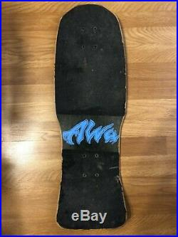 Vintage Alva John Gibson Mini Tex Cow Skull Skateboard Deck 80s OG