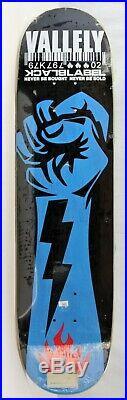 Vintage Black Label MIKE VALLELY Black and Blue skateboard deck from 1998, NOS