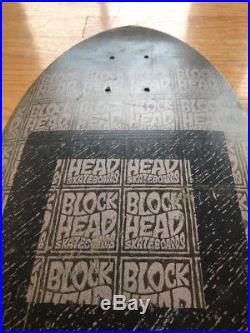 Vintage Blockhead Skateboard OG vtg
