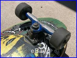 Vintage Blockhead Stretch Plank Skateboard Complete Santa Cruz Bullet Gullwing