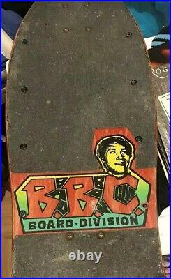 Vintage Bryan Pennington Skateboard Marching Mushrooms Deck 1989 BBC Skateboard