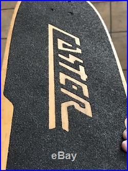 Vintage Caster Skateboard Deck Fiberglass Model 32x8 Original 1978