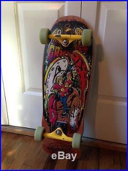 Vintage Claus Grabke Melting Clocks OG Santa Cruz Nhs Skateboard Madrid Time
