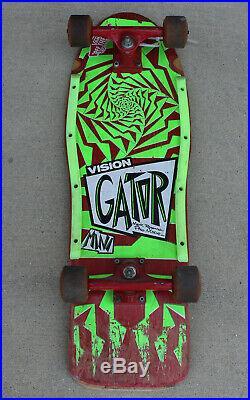 Vintage Gator Vision Mini OG Rogowksi Skateboard Tracker Trucks Bullet Wheels