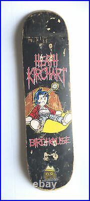 Vintage Heath Kirchart Birdhouse Full Size Skateboard Deck Voodoo Doll Art Rare
