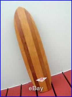 Vintage Hobie 5 stringer sidewalk surfboard skateboard longboard super surfer 60