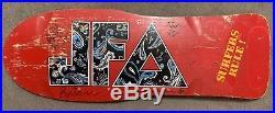 Vintage JFA Paisley Skateboard 1985 Jodi Foster's Army Punk OG Holy Grail Signed