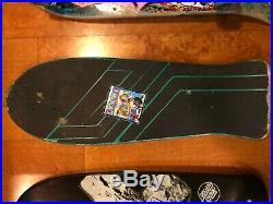 Vintage Keith Meeks Santa Cruz Slasher skateboard deck Nice Graphics