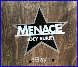 Vintage MENACE SKATEBOARD Deck 1990s, JOEY SURIEL, GRAFFITI ART, ULTRA-RARE