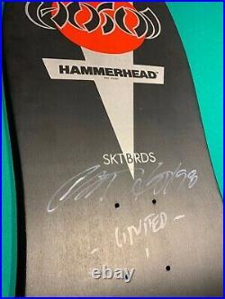 Vintage NOS Original Hosoi Hammerhead SIGNED Skateboard Deck 1985