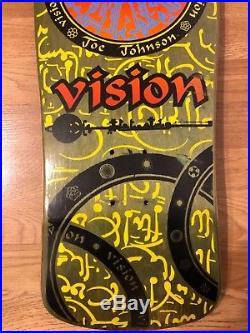 Vintage NOS VISION Joe Johnson Hieroglyphics Skateboard Deck OG 80s Rare