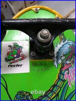 Vintage Nash Redline Executioner Skateboard Green Dragon XR-2 Trucks