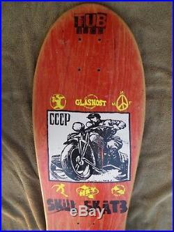 Vintage Nos 1987 Skull Skates Glasnost Skateboard Deck Russia Ussr