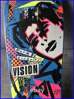 Vintage OG 1985 Vision Mark Gonzales Skateboard Deck Rare Blue Dip Hosoi Powell