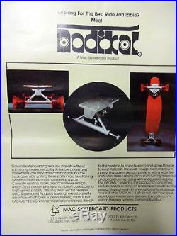 Vintage OG NOS RADIKAL Skateboard Trucks, Independant, Tracker