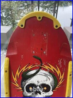 Vintage OG POWELL PERALTA Mike McGill Skateboard Deck Pig Red Dip 1985 Tony Hawk