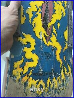 Vintage OG POWELL PERALTA TOMMY GUERRERO Skateboard Cobalt First Run Wheel Wells