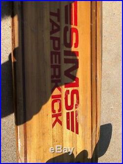Vintage OG SIMS Taperkick Skateboard 1970s with Green Kryptonics wheels Original