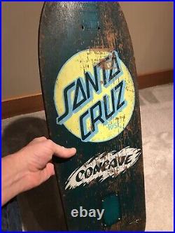 Vintage OG Santa Cruz Skateboard Deck 1980s Rob Roskopp Hosoi Salba malba