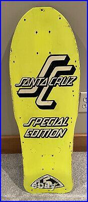 Vintage OG Santa Cruz Special Edition Neon Skateboard Deck Grosso Roskopp Salba