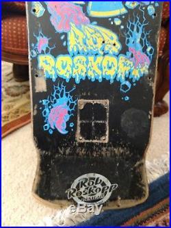 Vintage OG santa cruz 80's rob roskopp target skateboard deck