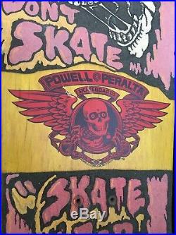 Vintage OG skateboard Powell Peralta Steve Caballero full size DnB yellow