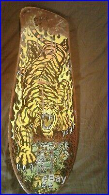Vintage Original Santa Cruz SALBA Tiger Skateboard Deck ULTRA RARE