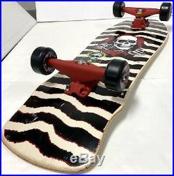 Vintage Powell Peralta 1987 RIPPER BONE WHITE Variant Skateboard NOS Crossbones