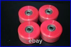 Vintage Powell Peralta Bones Skateboard Wheels 95A 57MM V-IV Red 4 Set