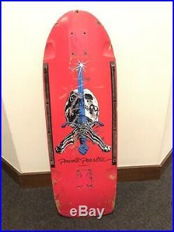 Vintage Powell Peralta Skull And Sword OG Skateboard Deck 1980 Pig Tony Hawk
