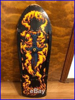 Vintage Powell Peralta Tommy Guerrero Flaming Dagger Skateboard Deck 86 OG TG