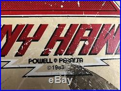 Vintage Powell Peralta Tony Hawk Skateboard 1983 Chicken Skull WithRails! RARE