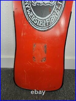 Vintage RARE G&S Skateboard Deck Danny Webster Fibrelite 1987 Gordon & Smith