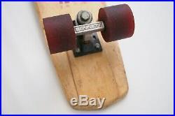 Vintage Retro 1970s Hobie Skatepark Rider Skateboard Wood Deck Bennett Trucks