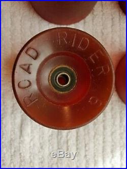 Vintage Road Rider 6 Skateboard Wheels. Excellent Original Condition