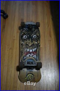 Vintage Rob Roskopp Face Skateboard Complete Santa Cruz Tracker Cross Bones