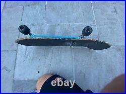 Vintage Rob Roskopp skateboard, independent trucks, Peralta Bones Trees wheels