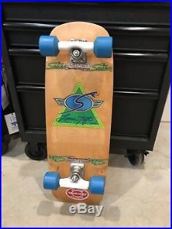 Vintage SIMS Lonnie Toft Snub Nose Skateboard Dogtown Alva